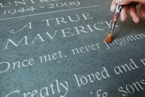 Unique slate headstone