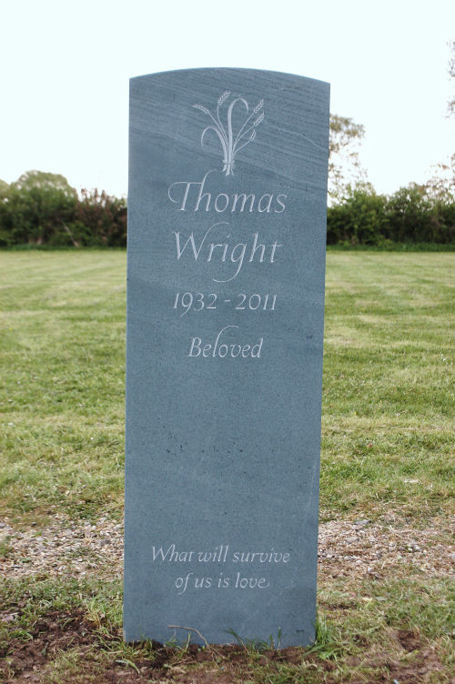 Greenslate headstones are long-lasting