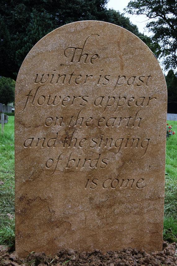 hand made headstone