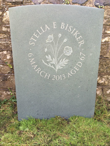 headstone carved by hand