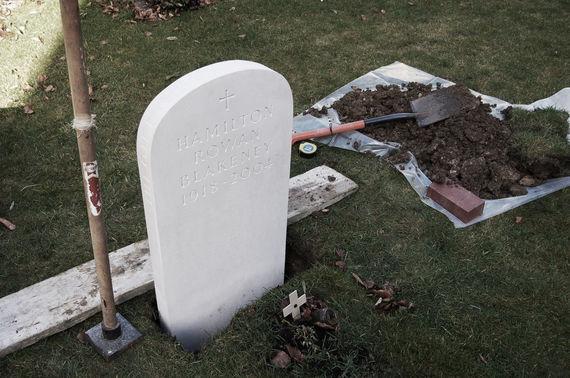 fixing headstone