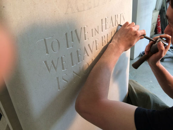 carving headstone