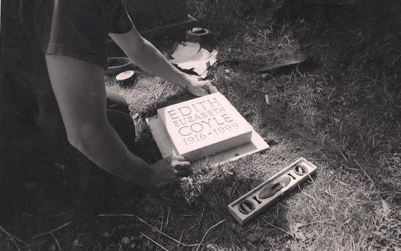 fixing cremation stone