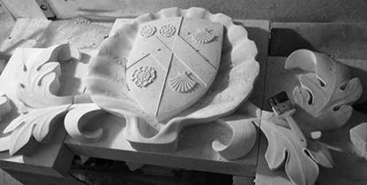 heraldry in workshop