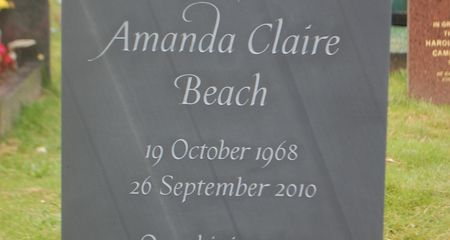 unique, bespoke slate headstone with star