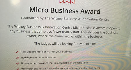 West Oxfordshire Business Award Entry
