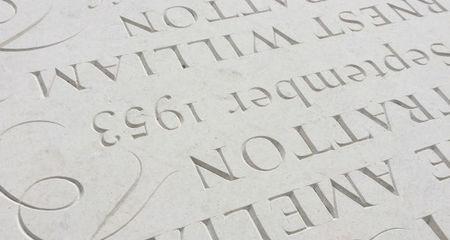 Headstone wording