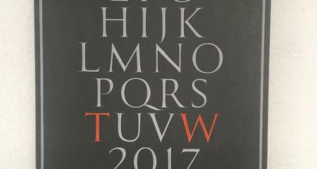 lettering in slate