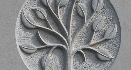 headstone symbol of tree