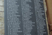 roll of honour carved in slate with fine hand carved lettering