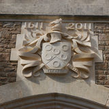coat of arms for Charterhouse School hand carved in limestone