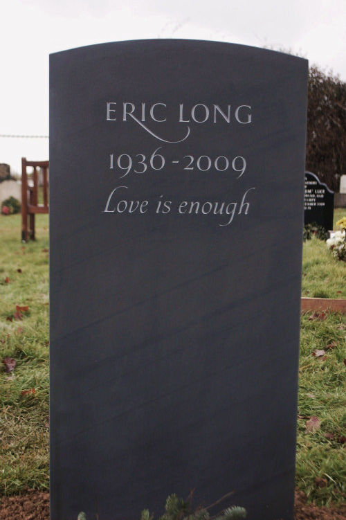 simple hand carved slate memorial headstone