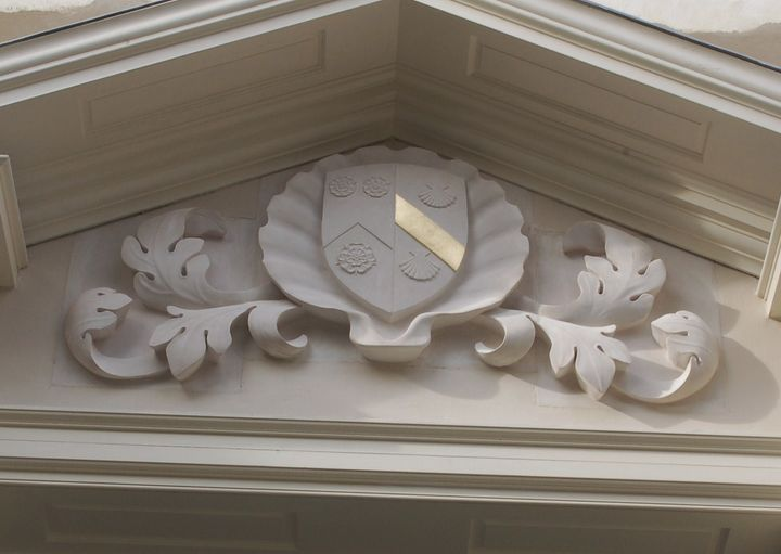 scallop shell above Holywell Music Room