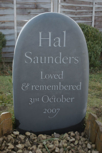 pebble memorial stone for an infant