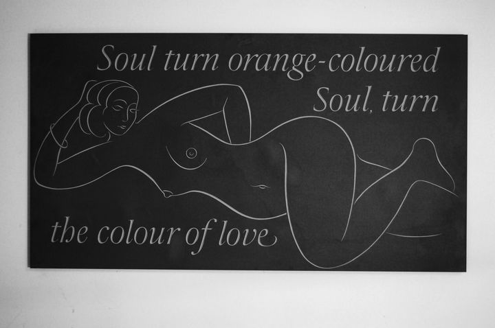Soul turn orange- line carving of a girl