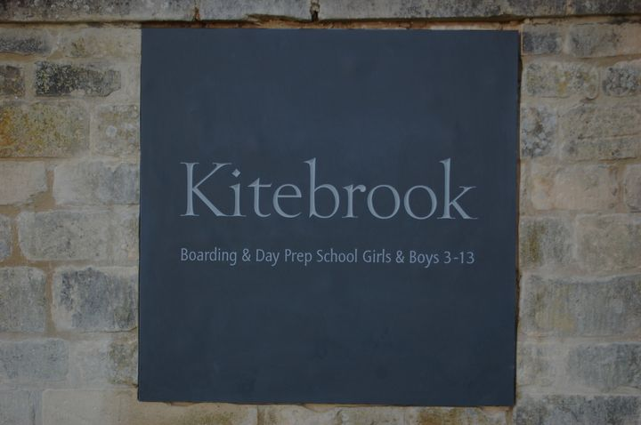 slate entrance plaque for Kitebrook School