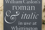william caslon's lettering in slate