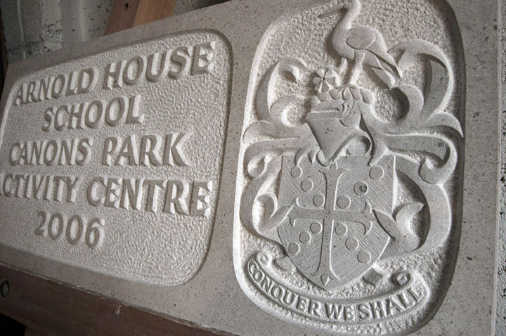 stone opening tablet in Hopton Wood limestone