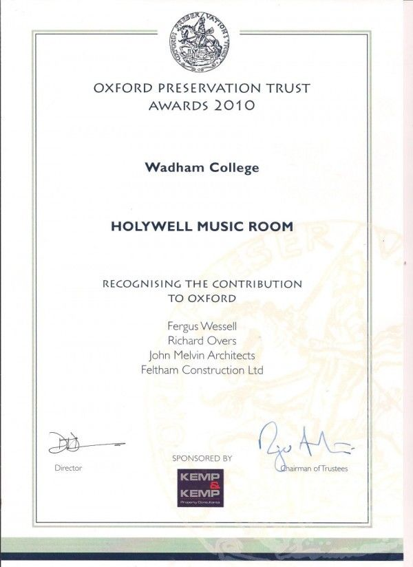 Holywell Music Room Award 001 R50