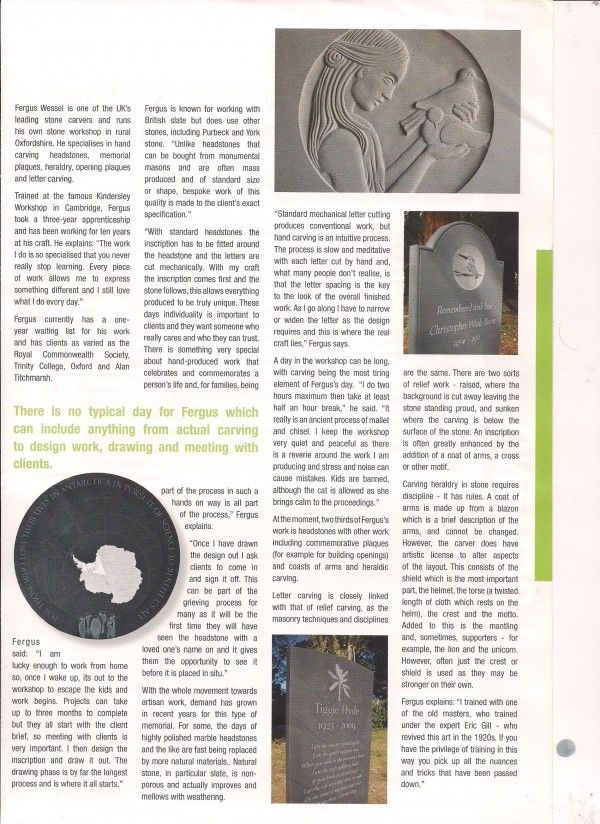 Article In Funeral Director Monthly2