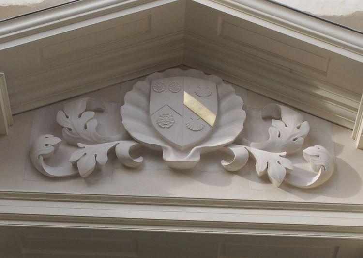 holywell music room heraldic carving