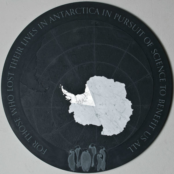 antarctic memorial plaque