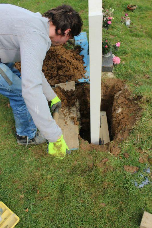 gravestone backfilling