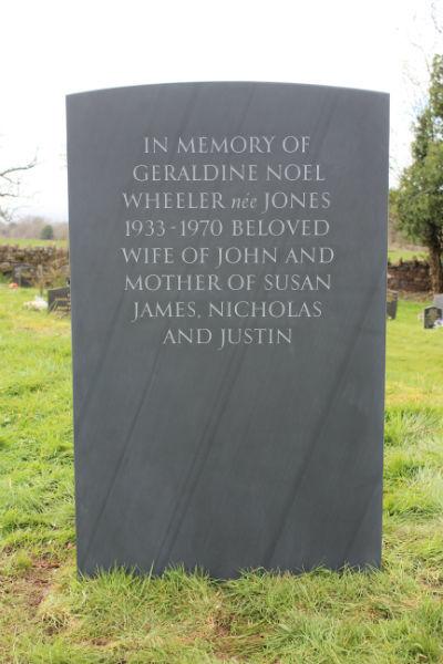 bespoke slate memorial