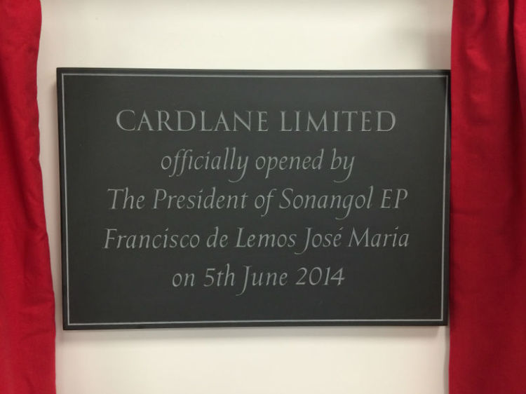 official opening plaque