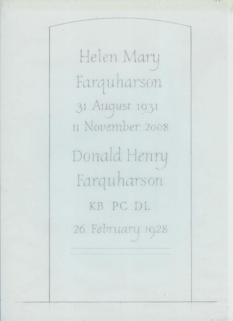 headstone design on paper
