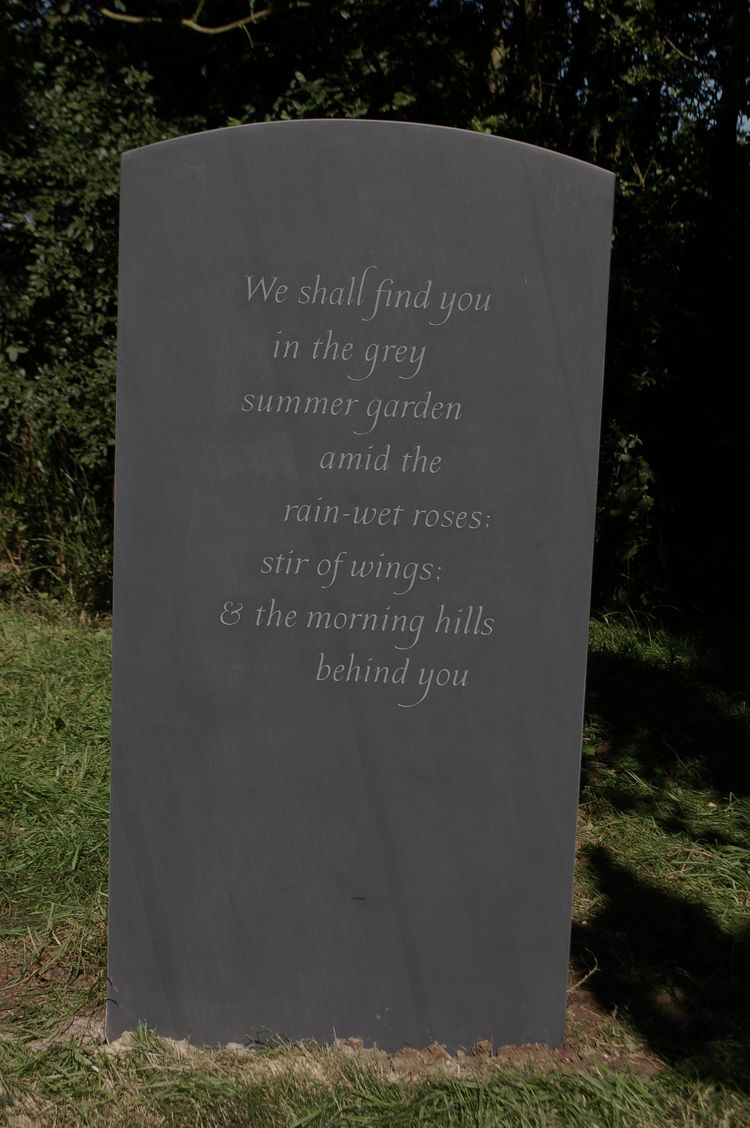 headstone from poem