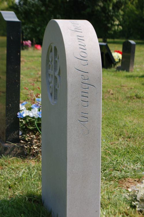 epitaph on side