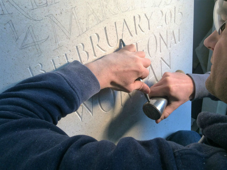 carving letters in stone