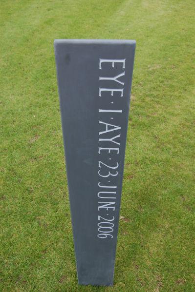 lettering on obelisk