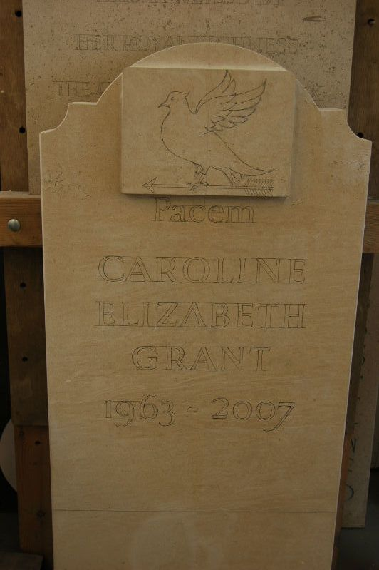 headstone drawn out