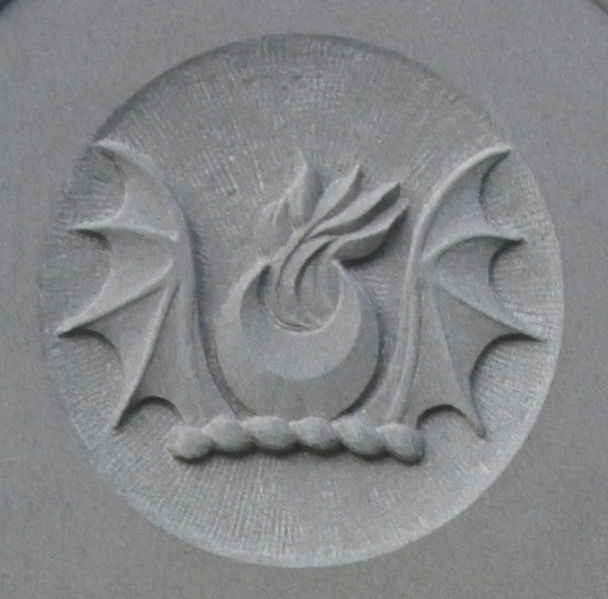 bat wings crest on headstone