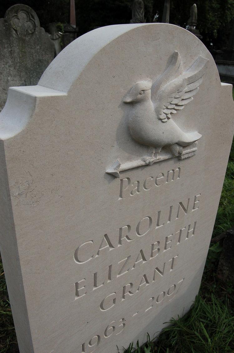 headstone in kensal green cemetery, london