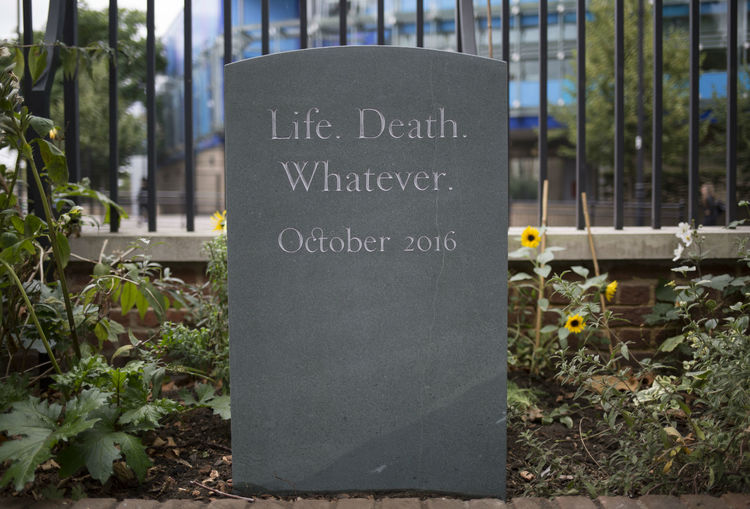 life death whatever headstone