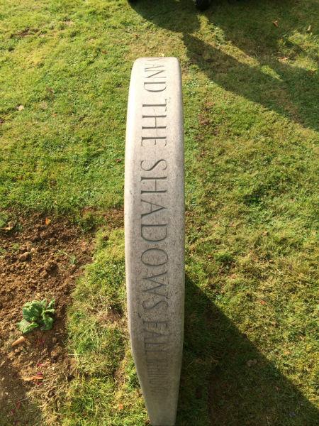 quote on headstone edge