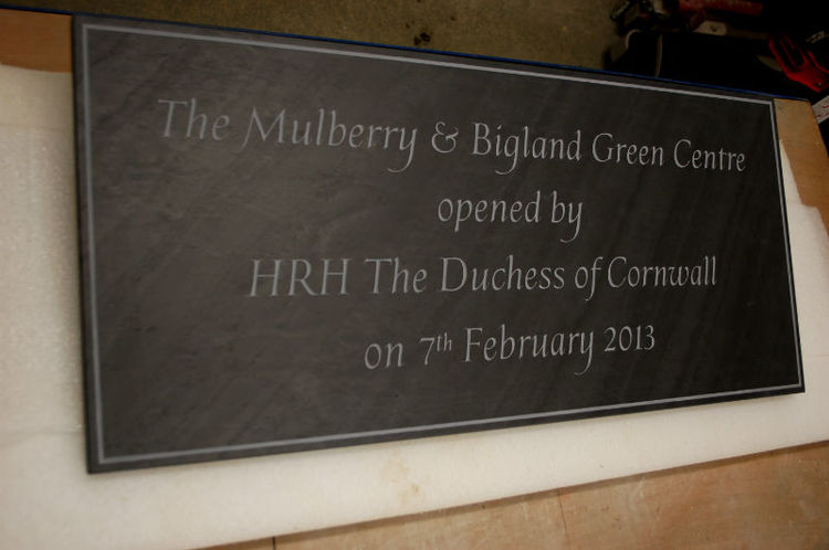 royal opening plaque