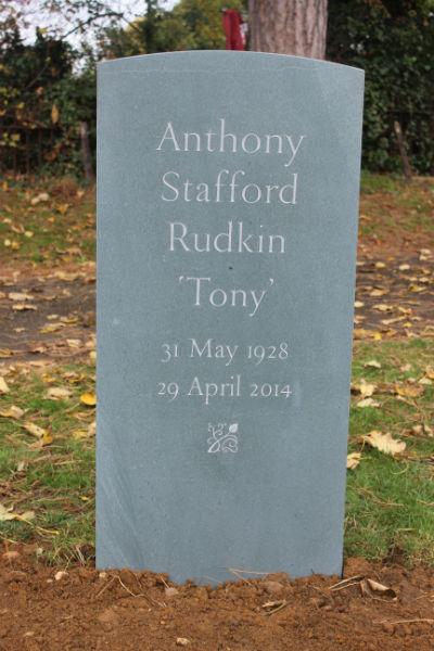 headstone inscription in slate