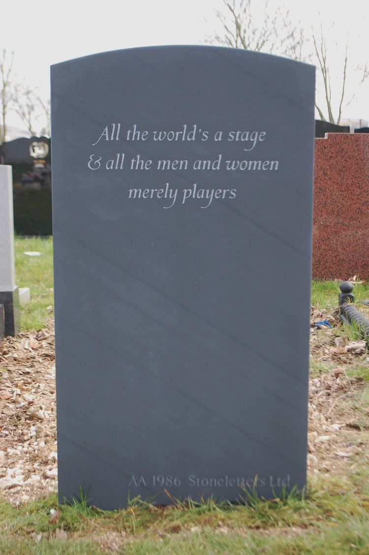 shakespeare on headstone
