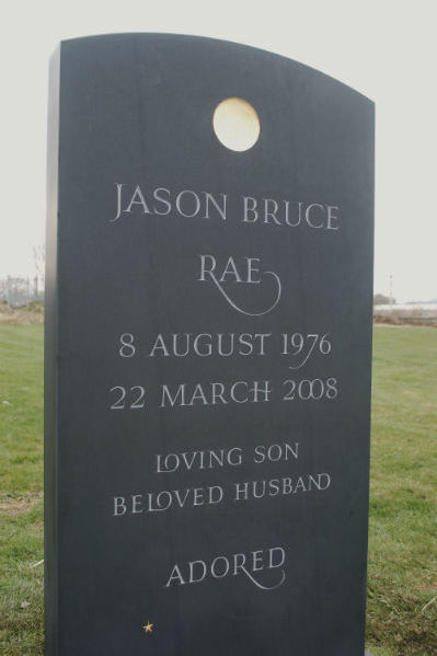 slate headstone for a musician