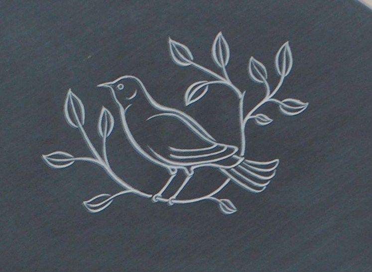headstone symbol bird