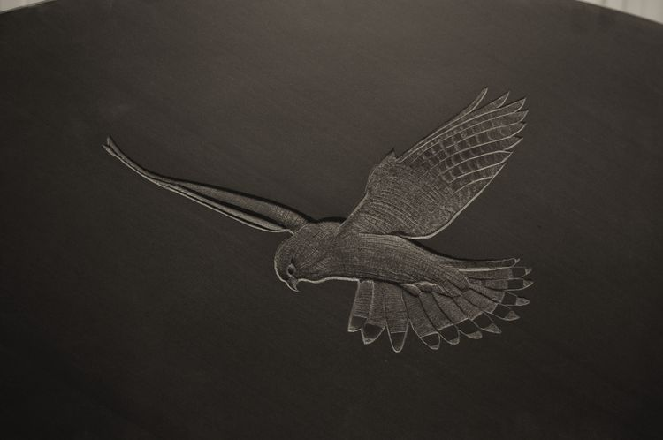 bird gravestone symbol