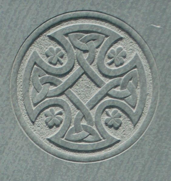 celtic cross on gravestone