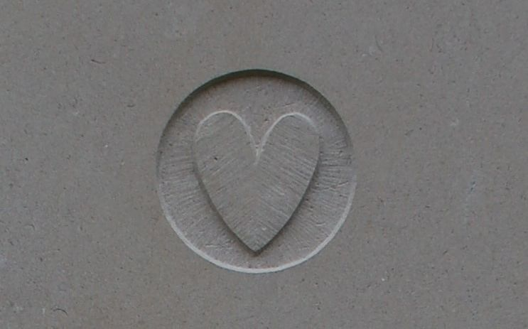 heart on a headstone