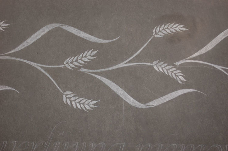 symbol of wheat on headstone