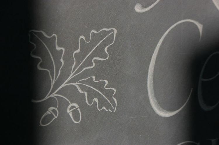 oak leaf on headstone