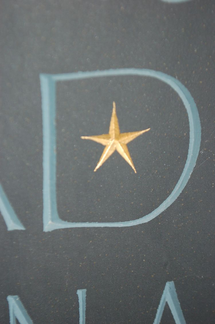 star on headstone